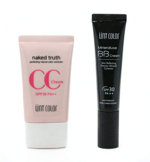 UNT Skincare Mineraluxe BB Cream, Naked Truth CC Cream and