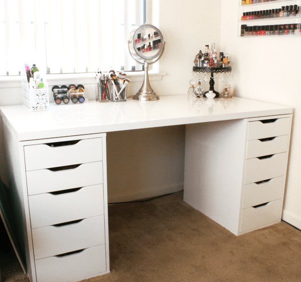 makeup vanity from Ikea