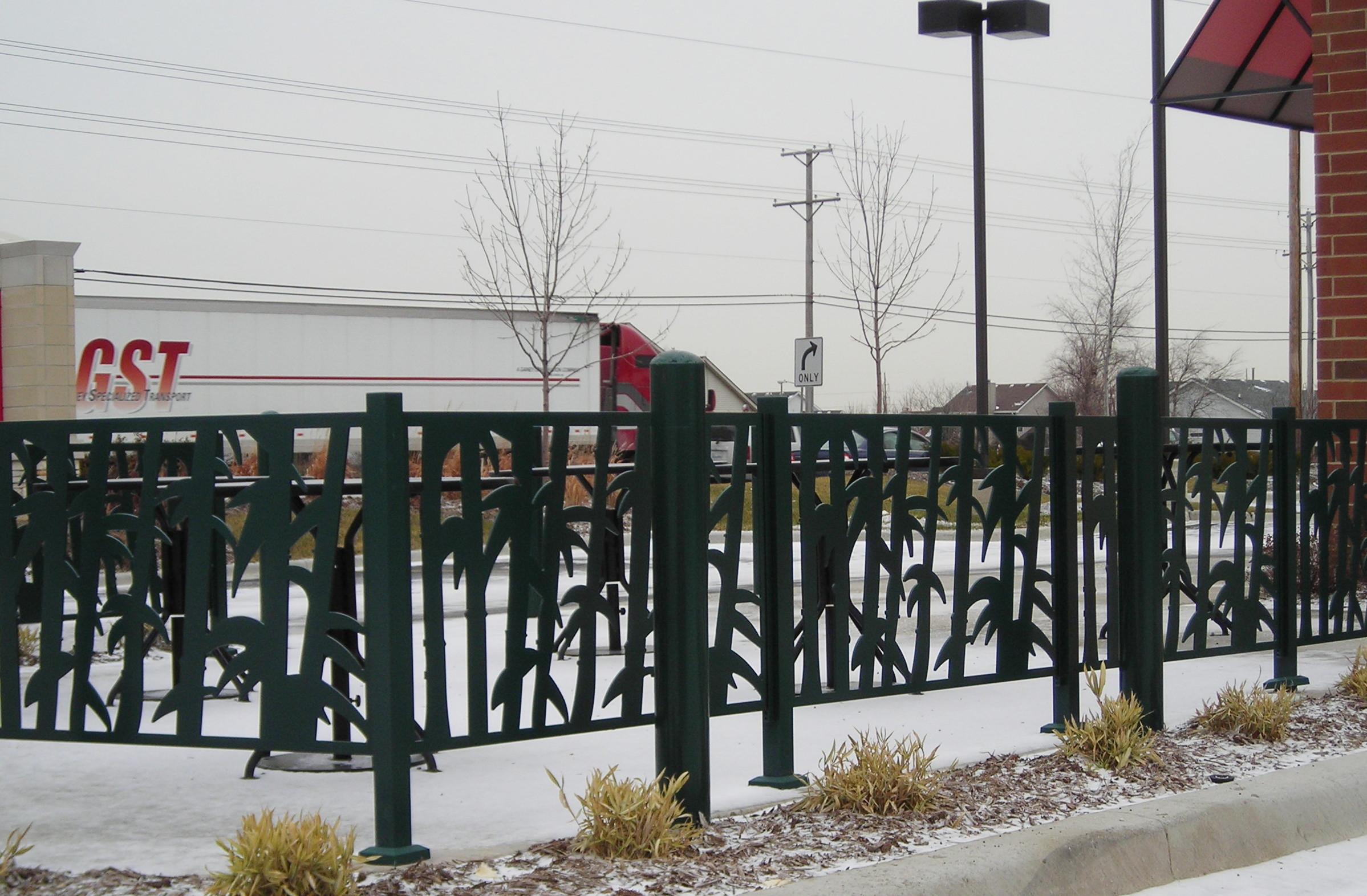 commercial decorative fencing gates