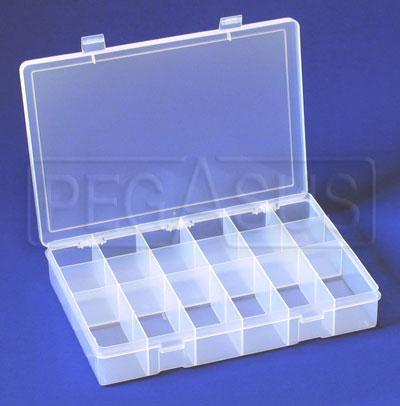 Large Plastic Organizer Box 18 Compartments Pegasus