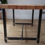 Metal Table Legs With Connecting Bar