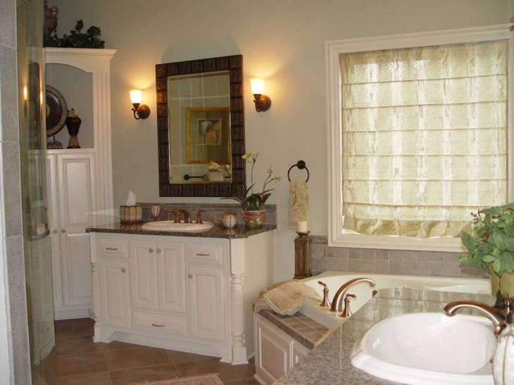 Interior Design White Master Bathroom