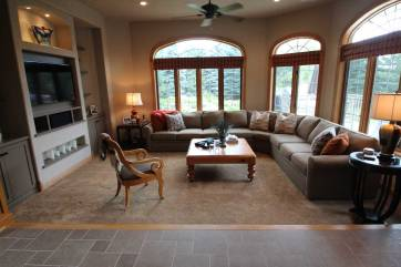 Interior Design Family Room | Pegasus Design Group | Milwaukee, WI