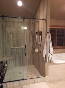 After: Master Bath Shower Remodel | Pegasus Design Group | Interior Designers