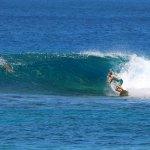 Rob spent his week charging every break we surfed