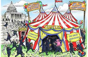 The circus has come to town!