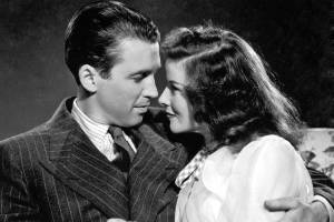 Jimmy Stewart and Katharine Hepburn