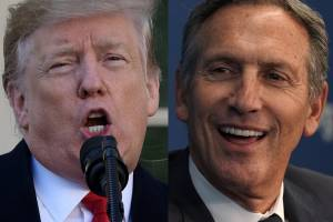 President Trump and Howard Schultz