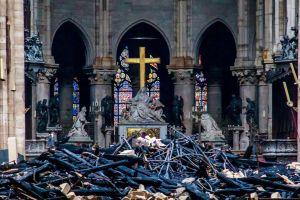 Notre Dame, Paris, after the fire