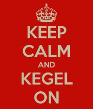 keep calm kegel on