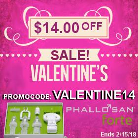 Phallosan Valentine Promo Code 14 dollars off
