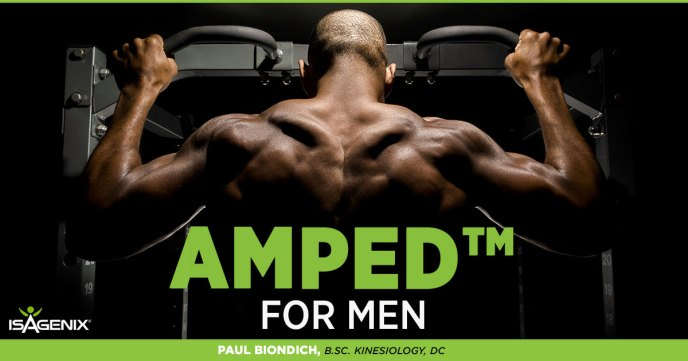 amped isagenix for men protein shakes protein bars
