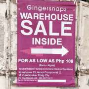 Gingersnaps Warehouse Sale 2017