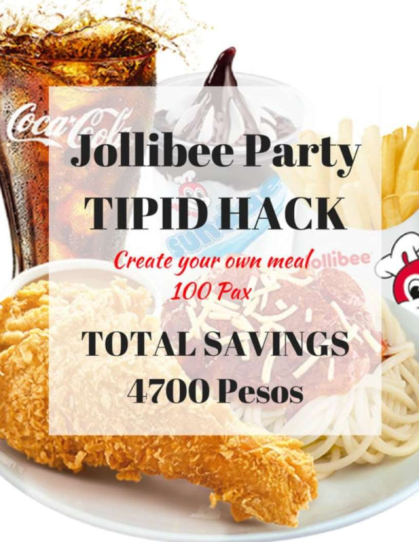 Jollibee Party Tipid Hack