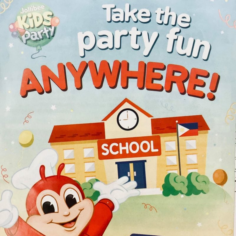 Jollibee Party Package Outside Store