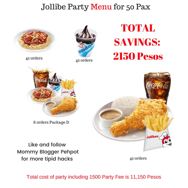 Jollibee Party Package 2018 Updated Price List Mommy Pehpot