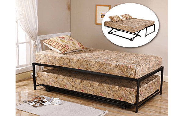 3twin Size Black Finish Metal Day Bed