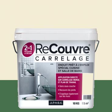 enduit carrelage effet beton 10kg salle de bain cuisine recouvre les joints lisse et decore plusieurs coloris