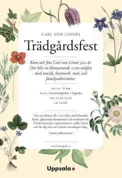 Linnes Tradgardsfest Affisch