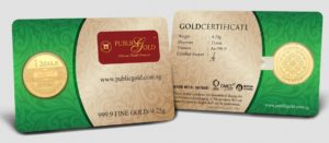 1 Dinar LBMA 24K Public Gold