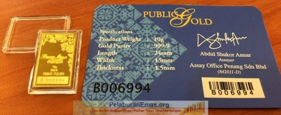 Goldbar 10g BungaMas Public Gold