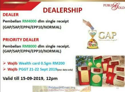 Promosi Dealer Public Gold ada PGGT 21-22 September 2019.