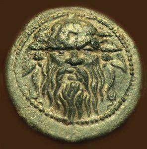 Монета со Силен од Локвени - аверс