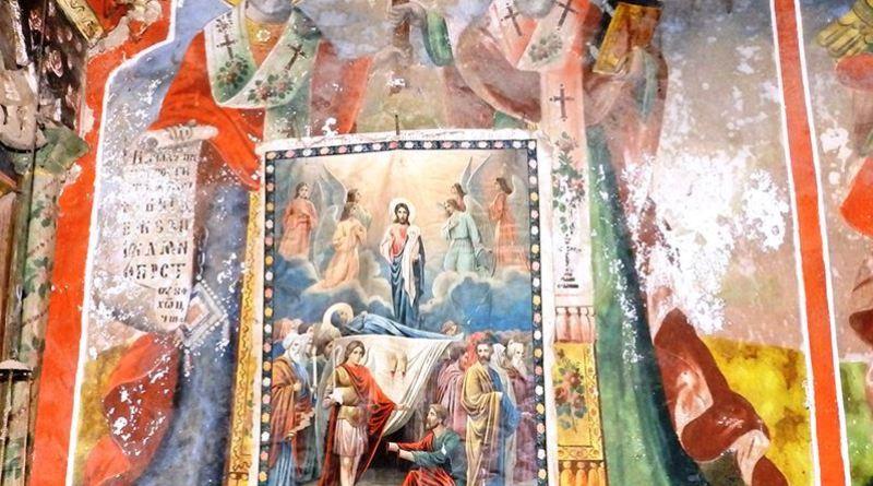 Дел од живописот со двајца светци