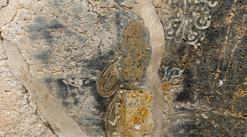 Остаток од живописот на јужниот ѕид 6