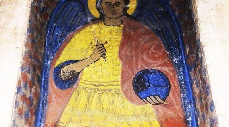 Св. Архангел Михаил над западната врата