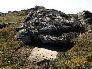 Поголема карпа и камен блок со симболика на Кале 1
