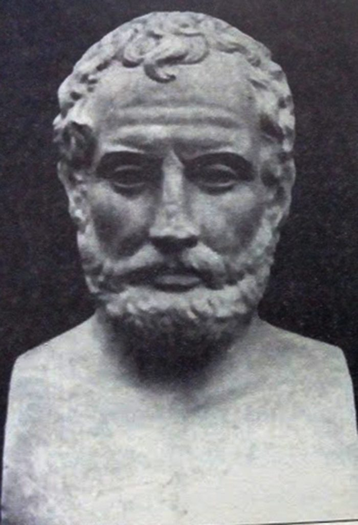 Ајсхин - од бистата пронајдена во хераклеја - Од книгата Античките театри во Македонија од Т. Јанакивески