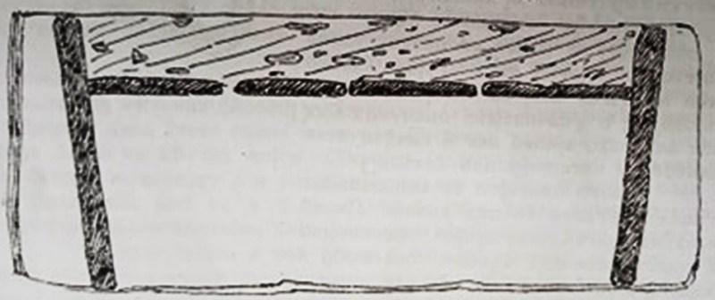 """Гроб од типот циста од гробовите од локалитетот """"Стара Болница"""" - пресек"""