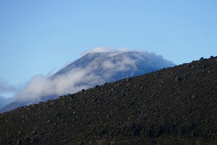 Ngauruhoe, viewed from shoulder of the also-active Ruapehu