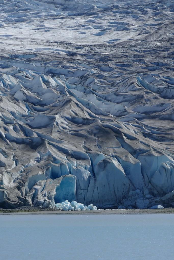 Reid Glacier snout (detail).
