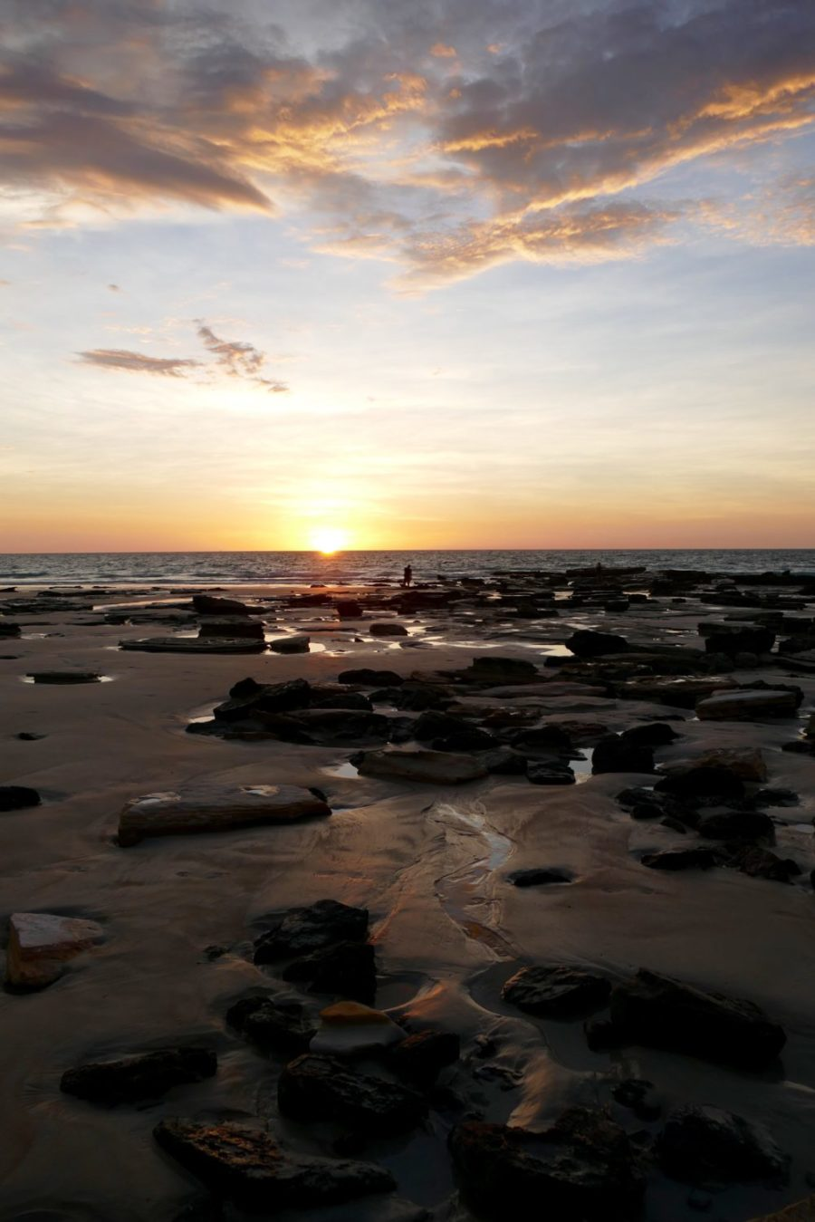 Sunset, low tide, Cable Beach, Broome. All photos copyright Doug Spencer.
