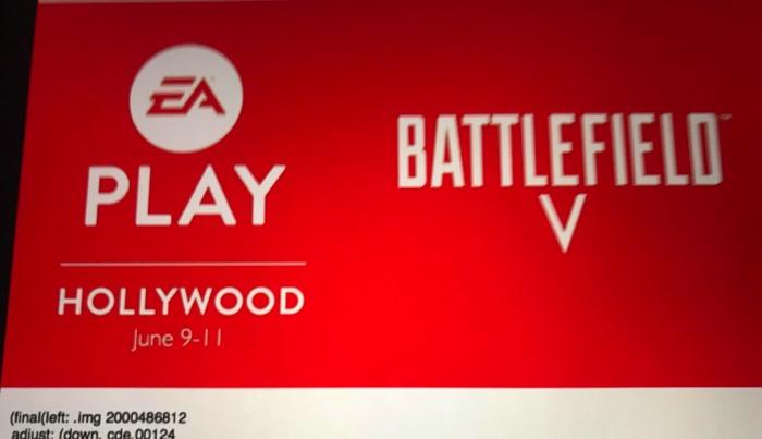 Battlefield v ea play marketing poster