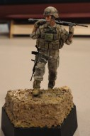 Robert Marquinez's nice 1:35 scale resin U.S. Marine machine gunner from Assault Models done up in acrylics.
