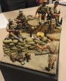 "Robert Marquinez's nice 1:35 diorama with British guys with Japanese heads. OK, so sue me - they're Ghurkas displaying their ""Spoils of War"". MiniArt figures with Hornet heads."