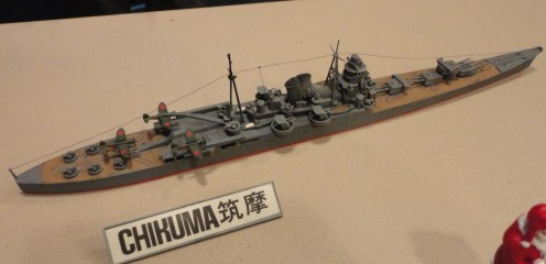 Continuing in on stuff, Jesus does it again with this Tamiya 1:700 IJM Chikuma OOB.