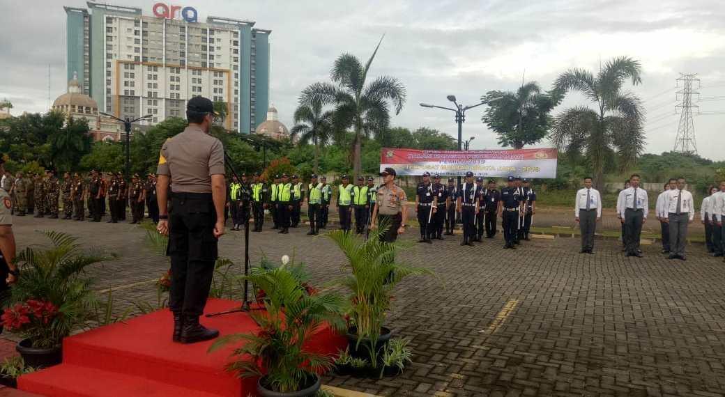 Gelar Apel Pasukan Pengamanan Pemilu 2019.Foto Pelita.co (Dok list)
