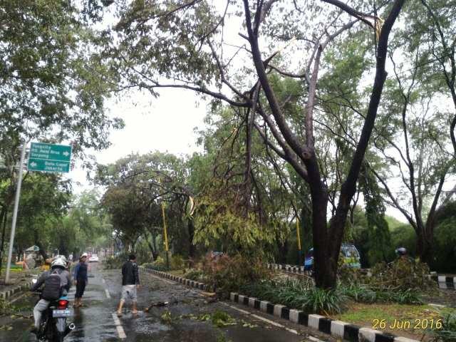 Hujan dan Angin Hantam Kota Tangerang