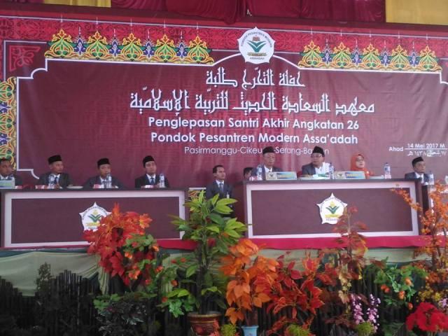 192 Santri Pondok Pesantren Modern Assa'adah Diwisuda, KH Mujiburrahman: Nak, Jadilah Khusnul Khotimah Dalam Hidupmu