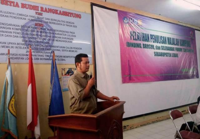 Pelatihan Jurnalis Kampung, DC Aryadi: Relawan TBM Sebagai Agen Perubahan