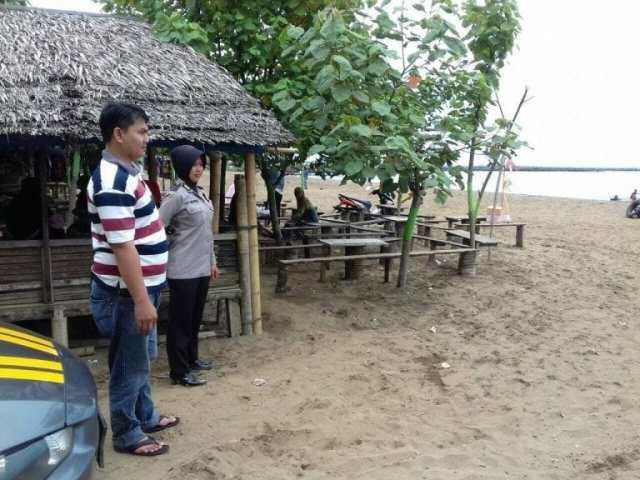 Kapolsek Labuan Kunjungi Pantai Caringin