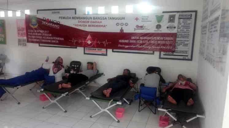 Aksi Donor Darah di Ciledung Indah Tetap Berjalan Meski Tidak Dihadiri Perangkat Desa