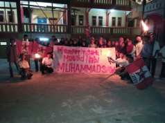 GMNI Komisariat STKIP Ikhlas Banten dan STAI As-Salamiah Pawai Obor Peringati Maulid Nabi Muhammad