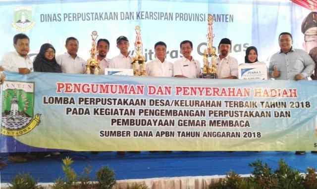 Perpusdes Fathussalam Desa Ciparasi, Wakili Lebak Raih Juara Tiga Lomba Perpustakaan Desa dan Kelurahan Se-Banten
