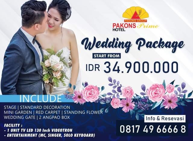 Weeding Package Pakons Prime Hotel