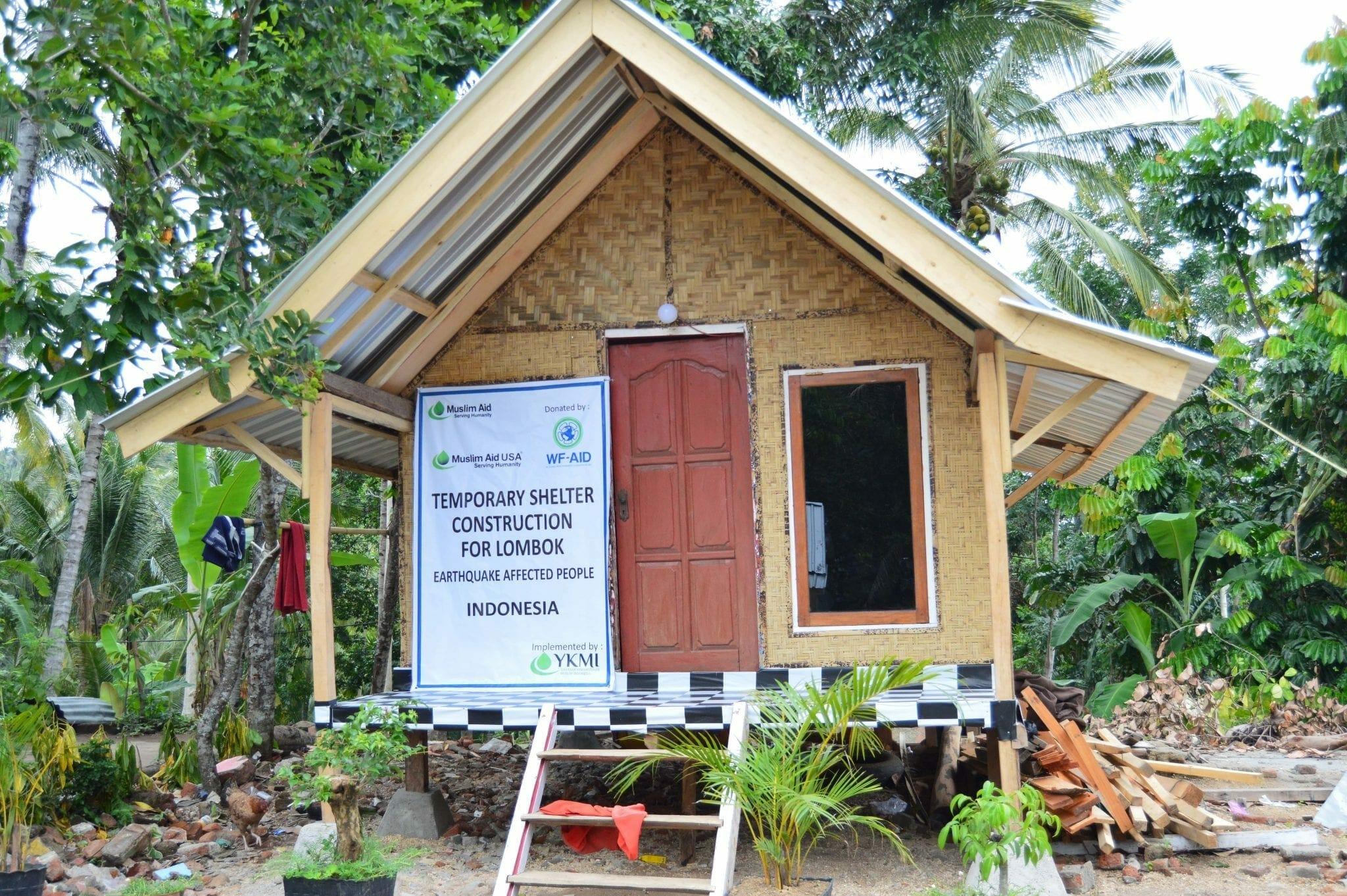 YKMI Bangun 155 Rumah Hunian Sementara di Lombok